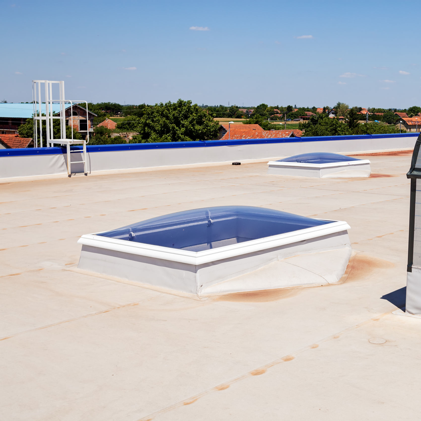 A roof with silicone roof coating.
