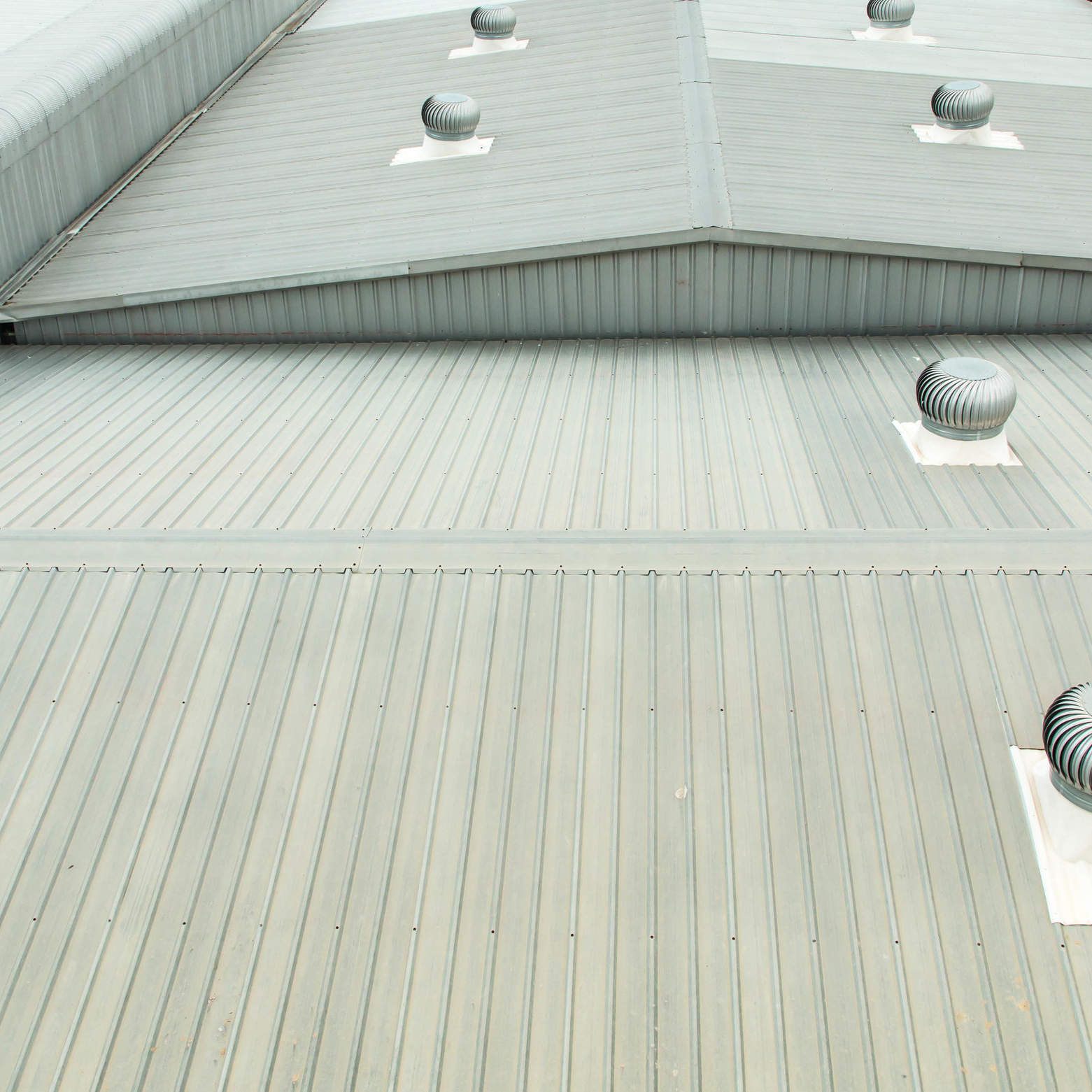 An industrial roof