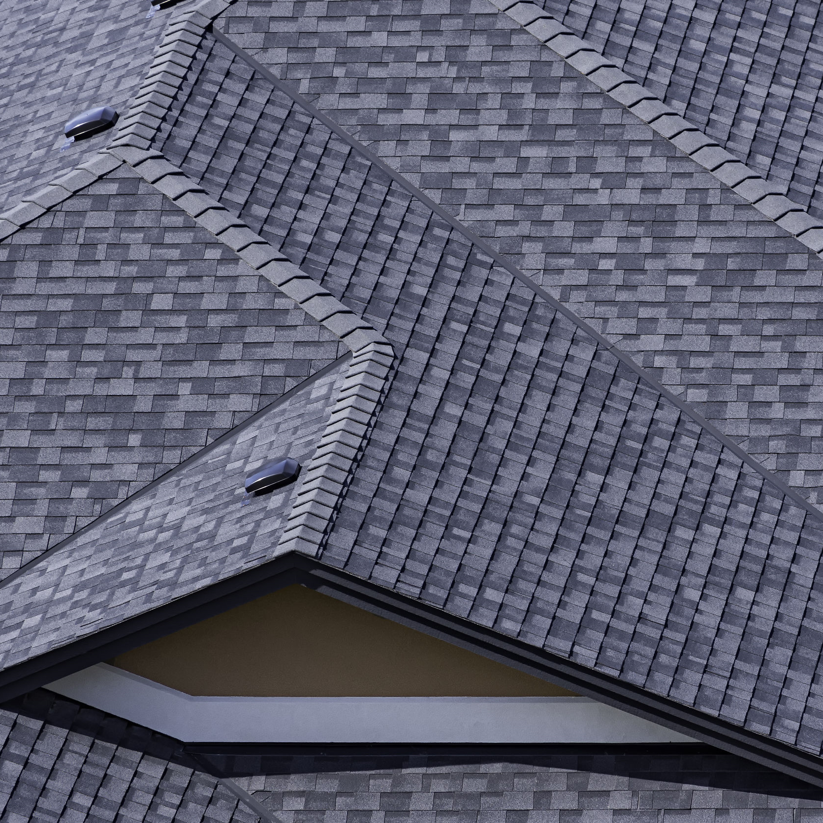A residential roof